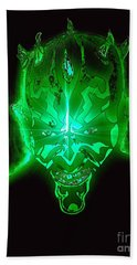 Darth Maul Green Glow Beach Sheet