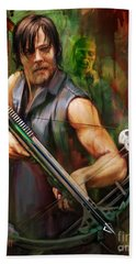 Daryl Dixon Walker Killer Beach Towel by Rob Corsetti