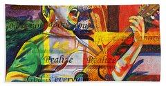 Dave Matthews-bartender Beach Towel by Joshua Morton