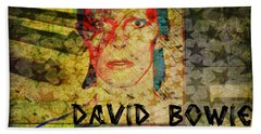 David Bowie Beach Towel by Absinthe Art By Michelle LeAnn Scott