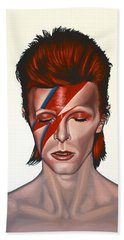 David Bowie Aladdin Sane Beach Towel