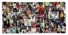 David Bowie Collage Beach Towel
