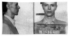 David Bowie Mug Shot Beach Sheet
