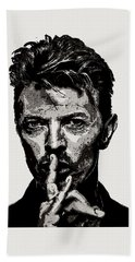 David Bowie - Pencil Beach Towel
