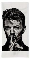 David Bowie - Pencil Beach Towel