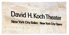 David H. Koch Theater Beach Towel