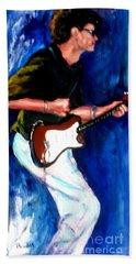 David On Guitar Beach Towel