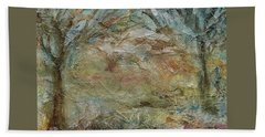 Beach Towel featuring the painting Dawn 2 by Mary Wolf