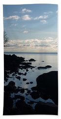 Beach Towel featuring the photograph Dawn At The Cove by James Peterson