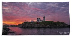 Dawn At The Nubble Beach Towel