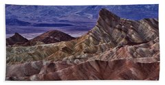 Beach Towel featuring the photograph Dawn At Zabriskie Point by Jerry Fornarotto