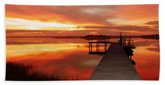 Dawn Of New Year Beach Sheet by Karen Wiles