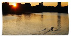 Beach Towel featuring the photograph Dawn On The Charles by James Kirkikis