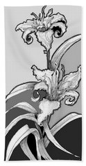 Beach Towel featuring the digital art Day Lillies by Carol Jacobs