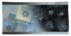 Snowflake Collage - Daybreak Beach Sheet