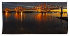 Daybreak At The Forth Bridge Beach Towel
