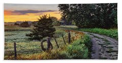Daybreak Southwest Corner Fenceline Beach Towel
