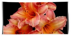 Daylilies 2 Beach Sheet by Rose Santuci-Sofranko