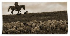 Days End Sheep Herding Beach Sheet