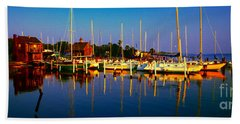 Daytona Beach Florida Inland Waterway Private Boat Yard With Bird   Beach Towel
