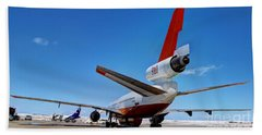 Beach Towel featuring the photograph Dc-10 Air Tanker  by Bill Gabbert