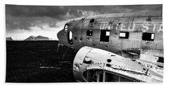 Beach Sheet featuring the photograph Dc-3 Iceland by Gunnar Orn Arnason