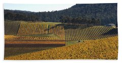 golden vines-Victoria-Australia Beach Sheet by Joy Watson