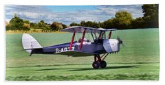De Havilland Tiger Moth 2 Beach Towel