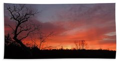 Dead Tree Sunrise Beach Towel