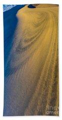 Death Valley Sunset Dune Wind Spiral Beach Sheet