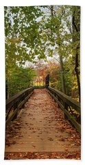 Decorate With Leaves - Holmdel Park Beach Towel