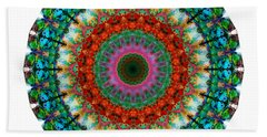 Deep Love - Mandala Art By Sharon Cummings Beach Towel