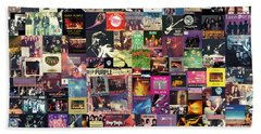 Deep Purple Collage Beach Towel