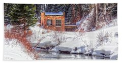 Deep Snow In Spearfish Canyon Beach Towel by Lanita Williams