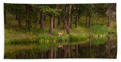 Deer In The Mist Beach Sheet