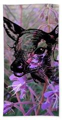 Deer On Flower Beach Sheet