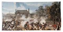 Defence Of The Chateau De Hougoumont Beach Towel