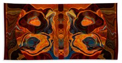 Deities Abstract Digital Artwork Beach Towel