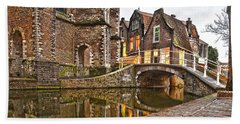 Delft Behind The Church Beach Towel by Frans Blok