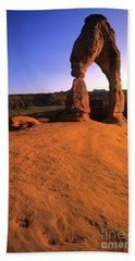 Delicate Arch Beach Towel by Bob Christopher
