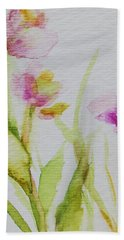 Delicate Blossoms Beach Sheet by Mary Wolf