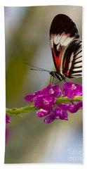 delicate Piano Key Butterfly Beach Towel