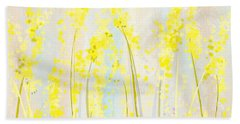 Delicately Soft- Yellow And Cream Art Beach Towel