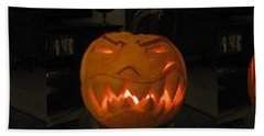 Demented Mister Ullman Pumpkin 2 Beach Sheet