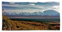 Beach Towel featuring the photograph Denali Colors by Jeremy Rhoades
