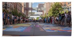 Denver Chalk Art Festival At Larimer Square 2014 Beach Towel