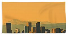 Beach Sheet featuring the photograph Denver Skyline by Colleen Coccia