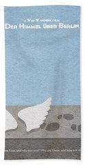 Der Himmel Uber Berlin  Wings Of Desire Beach Sheet by Ayse Deniz