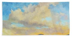 Desert Clouds Beach Towel