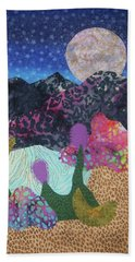 Beach Sheet featuring the tapestry - textile Desert Dreaming by Ellen Levinson